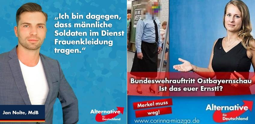 So widerlich führen AfD-Abgeordnete eine Trans-Mitarbeiterin der Bundeswehr vor