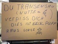 Morddrohung gegen trans Frau in Schleswig-Holstein