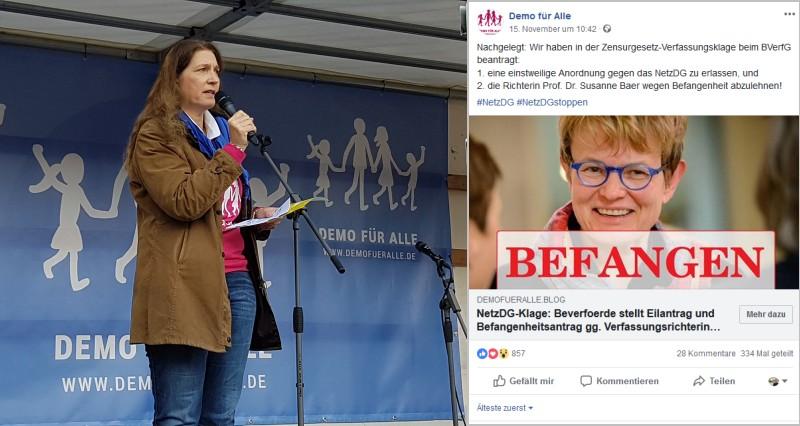 'Demo für alle' attackiert lesbische Verfassungsrichterin