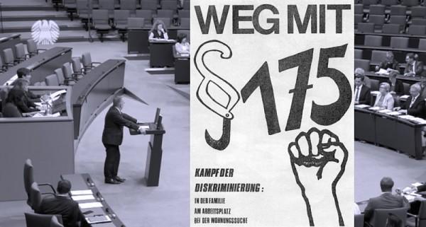 Paragraf 175 - §175: Bundestag stimmt geschlossen für Rehabilitierung bestrafter Männer